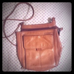 Fossil shoulder purse brown leather